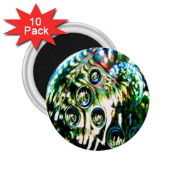 Dark Abstract Bubbles 2.25  Magnets (10 pack)