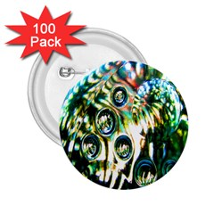 Dark Abstract Bubbles 2.25  Buttons (100 pack)