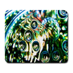 Dark Abstract Bubbles Large Mousepads