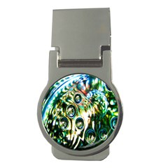Dark Abstract Bubbles Money Clips (Round)