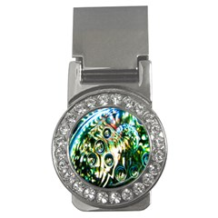 Dark Abstract Bubbles Money Clips (CZ)