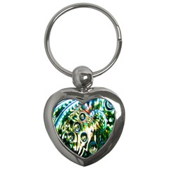 Dark Abstract Bubbles Key Chains (Heart)