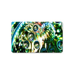 Dark Abstract Bubbles Magnet (Name Card)