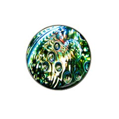 Dark Abstract Bubbles Hat Clip Ball Marker