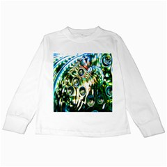 Dark Abstract Bubbles Kids Long Sleeve T-Shirts