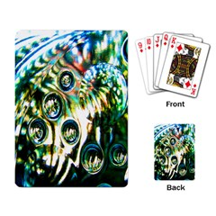 Dark Abstract Bubbles Playing Card