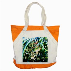 Dark Abstract Bubbles Accent Tote Bag