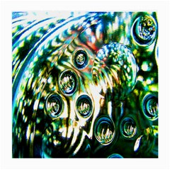 Dark Abstract Bubbles Medium Glasses Cloth (2-Side)