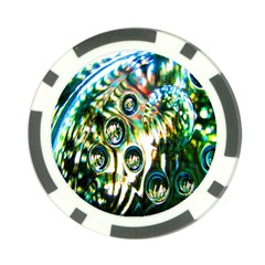 Dark Abstract Bubbles Poker Chip Card Guard