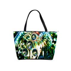 Dark Abstract Bubbles Shoulder Handbags