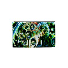Dark Abstract Bubbles Cosmetic Bag (Small)
