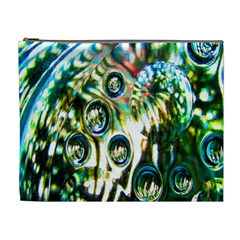 Dark Abstract Bubbles Cosmetic Bag (XL)
