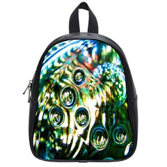 Dark Abstract Bubbles School Bags (Small)