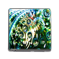 Dark Abstract Bubbles Memory Card Reader (Square)