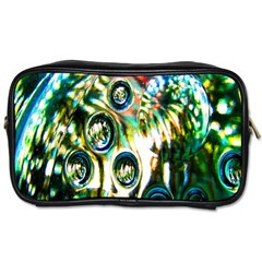 Dark Abstract Bubbles Toiletries Bags