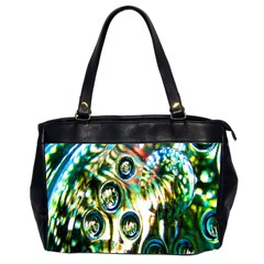 Dark Abstract Bubbles Office Handbags (2 Sides)