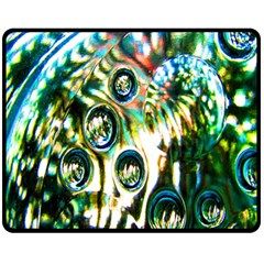 Dark Abstract Bubbles Fleece Blanket (Medium)