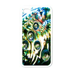 Dark Abstract Bubbles Apple iPhone 4 Case (White)