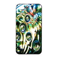 Dark Abstract Bubbles Apple iPhone 4/4s Seamless Case (Black)
