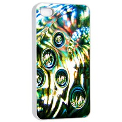 Dark Abstract Bubbles Apple iPhone 4/4s Seamless Case (White)