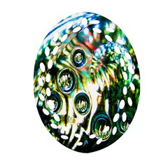 Dark Abstract Bubbles Ornament (Oval Filigree)