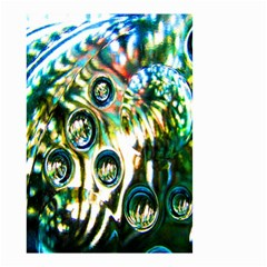 Dark Abstract Bubbles Small Garden Flag (Two Sides)