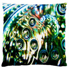 Dark Abstract Bubbles Large Cushion Case (one Side)
