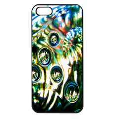 Dark Abstract Bubbles Apple Iphone 5 Seamless Case (black)