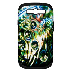 Dark Abstract Bubbles Samsung Galaxy S Iii Hardshell Case (pc+silicone)