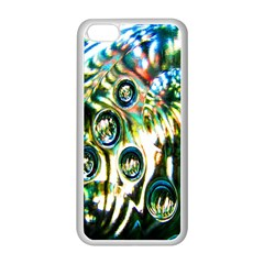 Dark Abstract Bubbles Apple Iphone 5c Seamless Case (white)