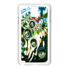 Dark Abstract Bubbles Samsung Galaxy Note 3 N9005 Case (White)