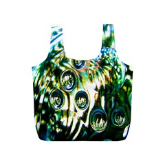 Dark Abstract Bubbles Full Print Recycle Bags (S)