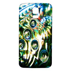 Dark Abstract Bubbles Samsung Galaxy S5 Back Case (White)