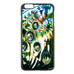 Dark Abstract Bubbles Apple Iphone 6 Plus/6s Plus Black Enamel Case