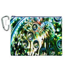 Dark Abstract Bubbles Canvas Cosmetic Bag (XL)
