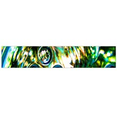 Dark Abstract Bubbles Flano Scarf (Large)