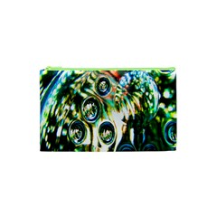 Dark Abstract Bubbles Cosmetic Bag (XS)