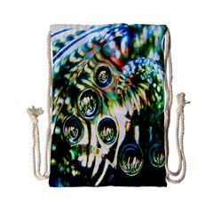 Dark Abstract Bubbles Drawstring Bag (Small)