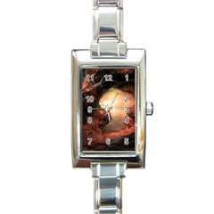 3d Illustration Of A Mysterious Place Rectangle Italian Charm Watch