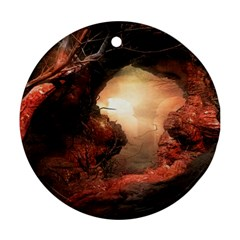 3d Illustration Of A Mysterious Place Ornament (Round)