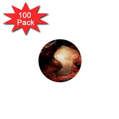 3d Illustration Of A Mysterious Place 1  Mini Buttons (100 Pack)