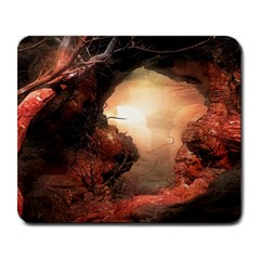 3d Illustration Of A Mysterious Place Large Mousepads
