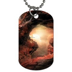 3d Illustration Of A Mysterious Place Dog Tag (one Side)