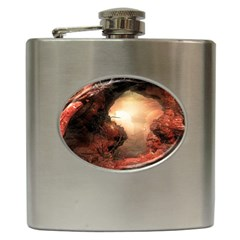 3d Illustration Of A Mysterious Place Hip Flask (6 Oz)