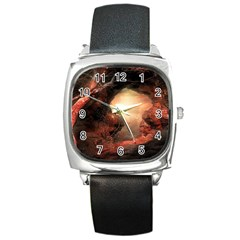 3d Illustration Of A Mysterious Place Square Metal Watch