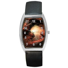 3d Illustration Of A Mysterious Place Barrel Style Metal Watch