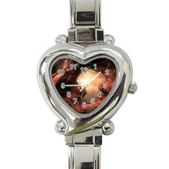 3d Illustration Of A Mysterious Place Heart Italian Charm Watch