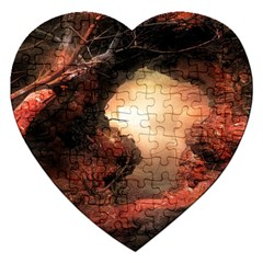 3d Illustration Of A Mysterious Place Jigsaw Puzzle (heart)