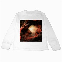 3d Illustration Of A Mysterious Place Kids Long Sleeve T-Shirts