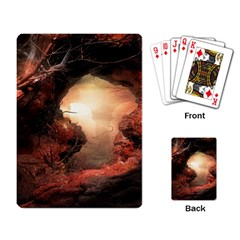 3d Illustration Of A Mysterious Place Playing Card